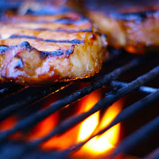 Grilled Pork Chops with Garlic and Ginger.