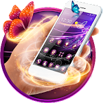 Purple Butterfly Theme Icon