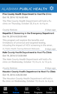 AL Department of Public Health- screenshot thumbnail