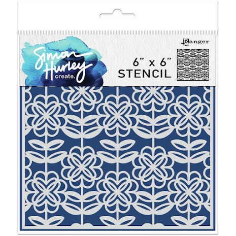 Simon Hurley create. Stencils 6X6 - Flower Power
