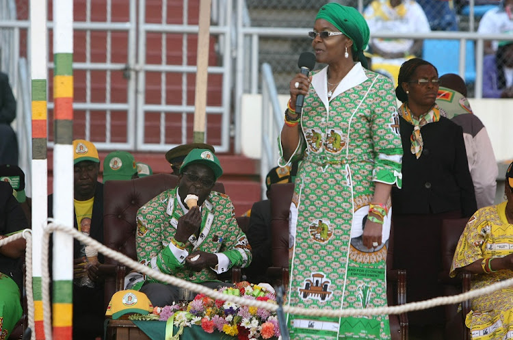 Robert and Grace Mugabe.