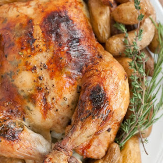 Maple Mustard Roasted Chicken.