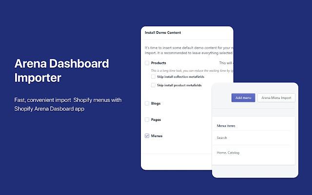 Arena Dashboard Importer - Chrome Web Store