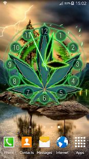 Rasta Weed Clock Widget - náhled