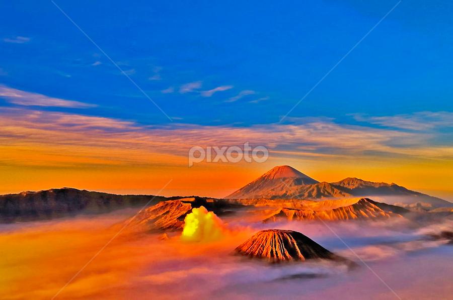 Sunrise at Mountain Bromo by Utari Ummi Hayati - Landscapes Sunsets & Sunrises