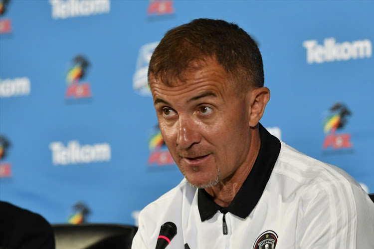 Orlando Pirates coach Milutin Sredojevic during the Orlando Pirates Press Conference at PSL Offices on November 22, 2018 in Johannesburg, South Africa.