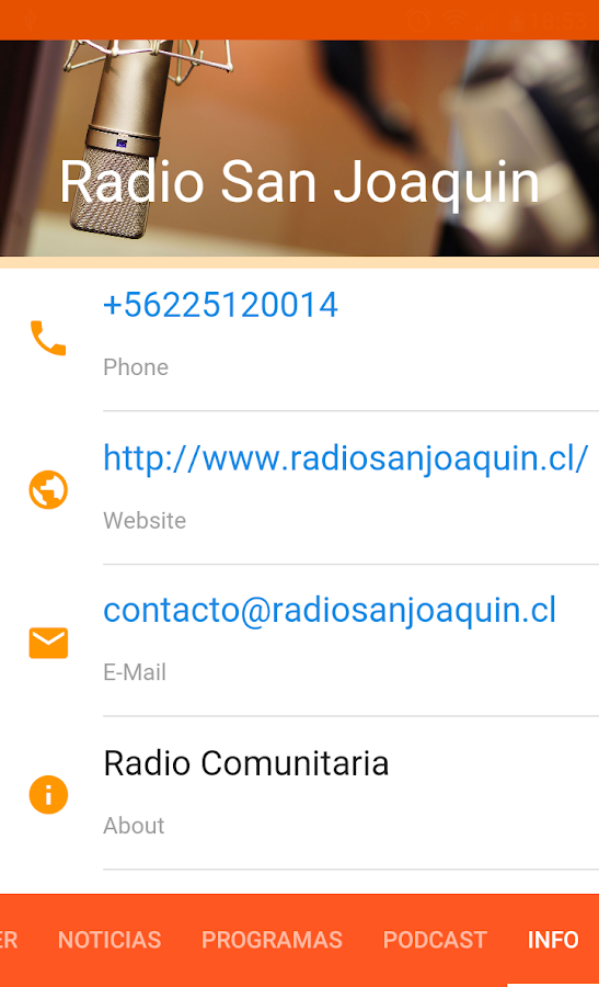 Radio San Joaquin Chile- screenshot