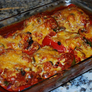 Stuffed Pepper Enchiladas
