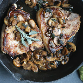 Pork Chops With Mushrooms and Sage.