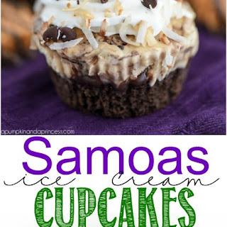 Samoas Ice Cream Cupcakes