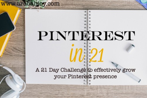 A 21 day challenge to effectively grow your Pinterest presence.