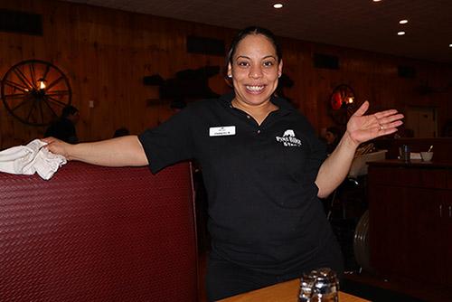 waitress at Pine Ridge Dude Ranch