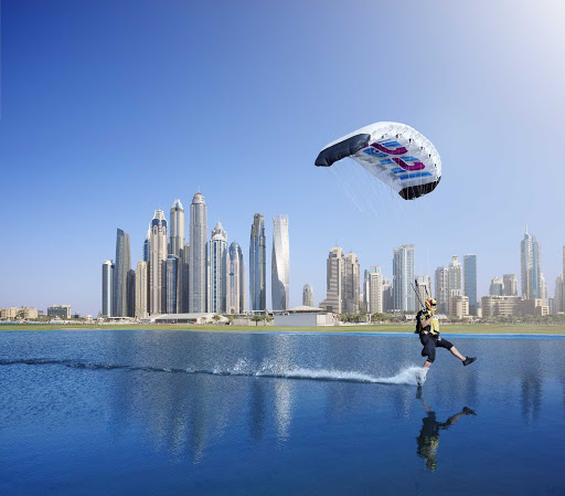 Dubai-water-sports.jpg - Try kite sailing, parasailing or other thrill sports during your stopover in Dubai.