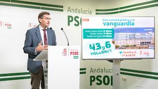 Sánchez Teruel, en la sede del PSOE.