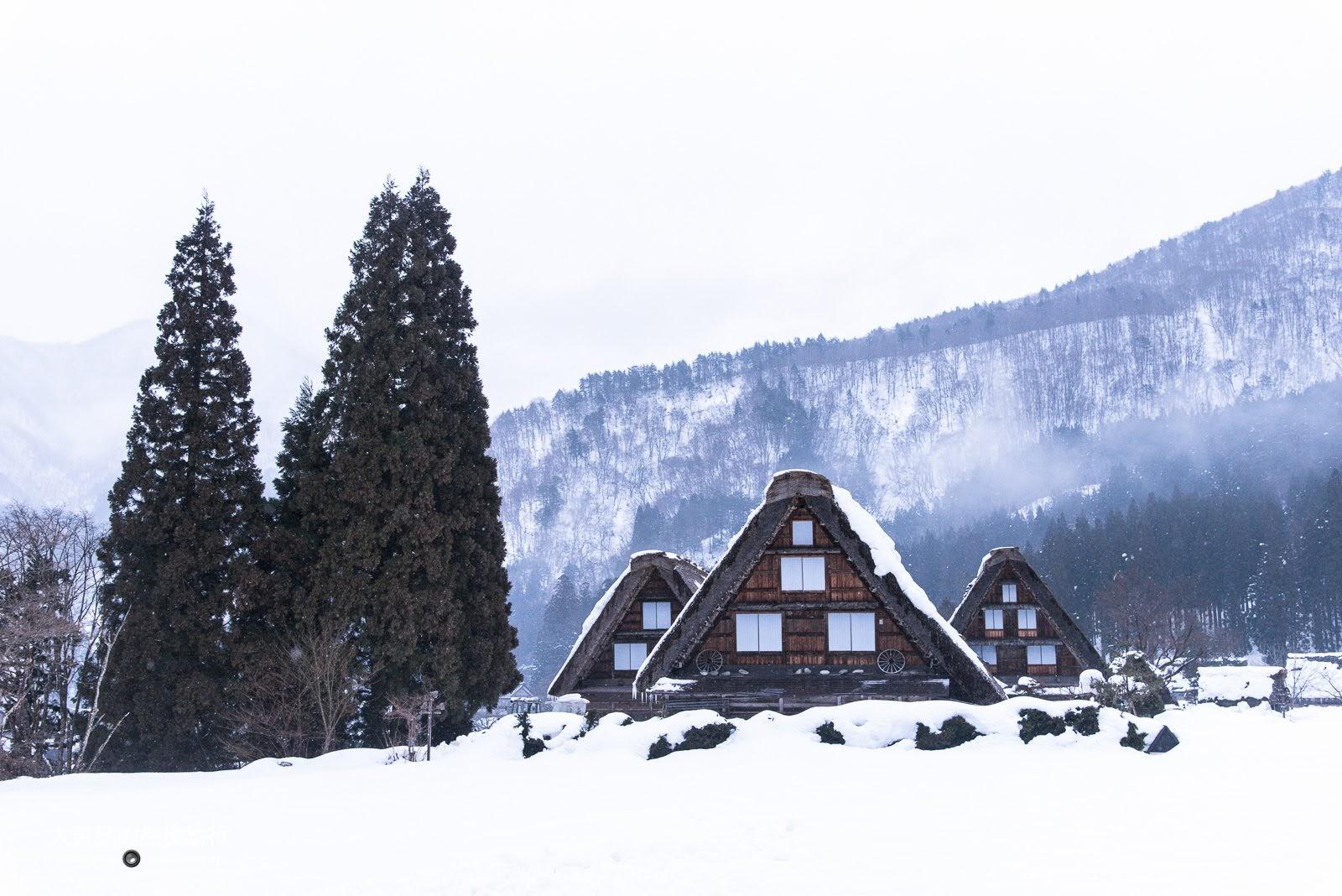 白川鄉合掌村三間小屋。