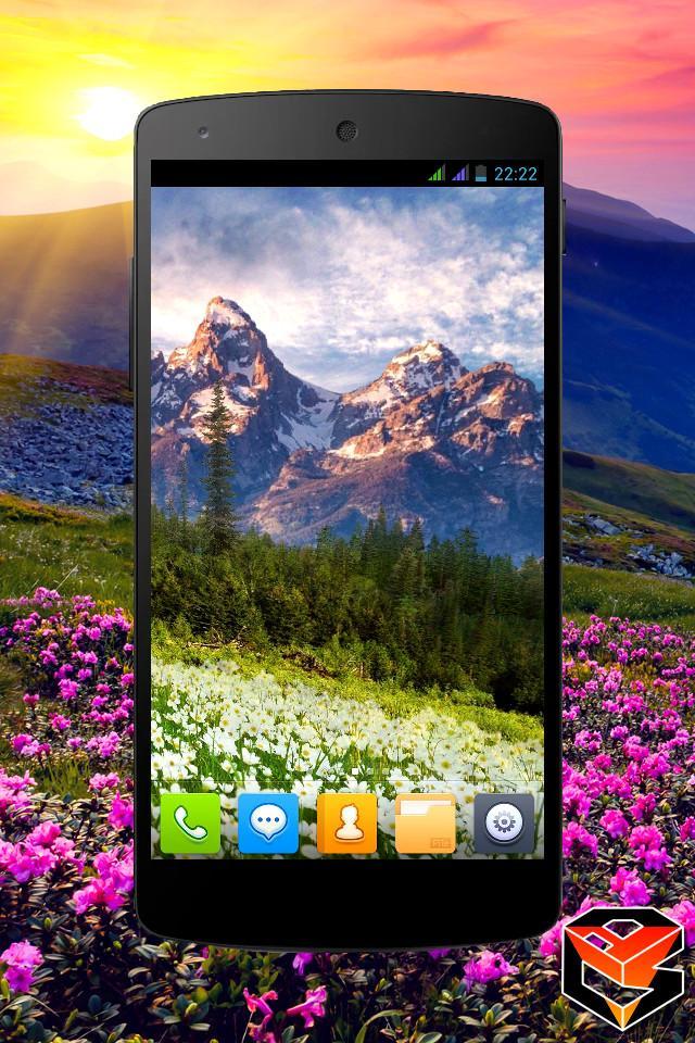 Mountain Flowers Pro Live Wallpaper Screenshot 2