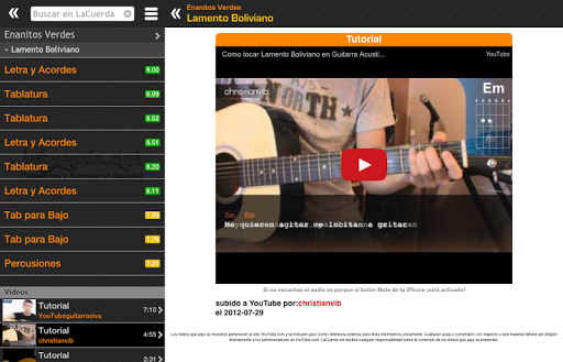 Tabs & Chords in Spanish screenshot 7