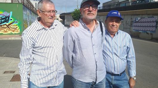 Rafael Díaz, Ramón Fernández y Genaro Ramos, directivos de ARA.