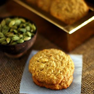Coconut Oatmeal Cardamom Cookies