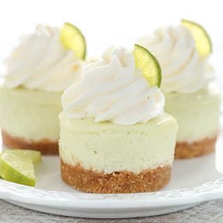 Mini Key Lime Cheesecakes.