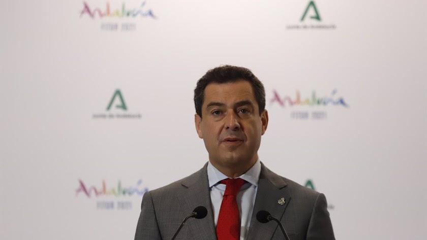 Juanma Moreno, presidente de la Junta de Andalucía, en una imagen de archivo.