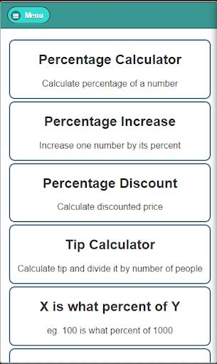 Percentage Calculator GES