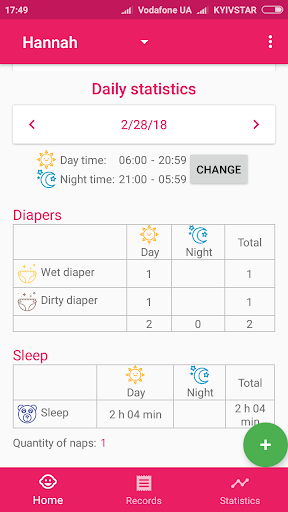 BabyAppy: formula feeding, sleep and diapers 1.15 Screenshots 3