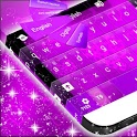 Hearts Purple Keyboard GO icon
