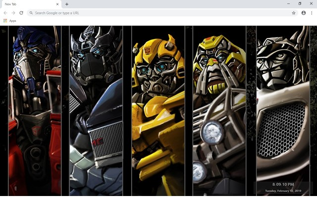 Transformers New Tab & Wallpapers Collection