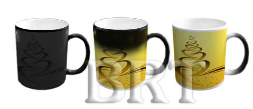 Photo: Черная чашка-хамелеон с рисунком