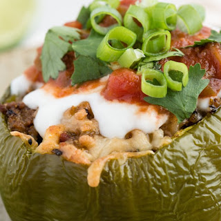 Beef and Quinoa Stuffed Bell Peppers.