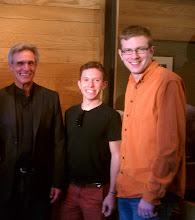 Photo: Abbot Michael with Jono Matt, '06 and Nick Ridder, '00