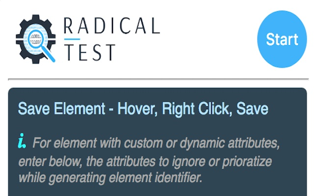 Radical Test Element Identifier