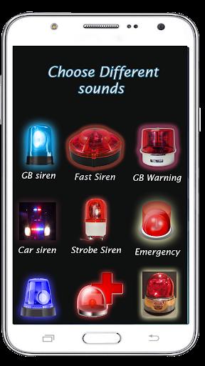 Loud Police Siren Sound - Police Siren Light 1.8 screenshots 2