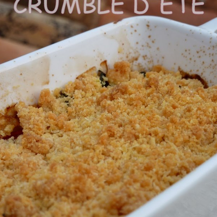 Summer Scented Tomato and Zucchini Crumble Recipe