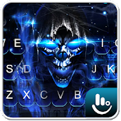 3D Blue Flame Skull Keyboard Theme Android APK Download Free By Love Cute Keyboard