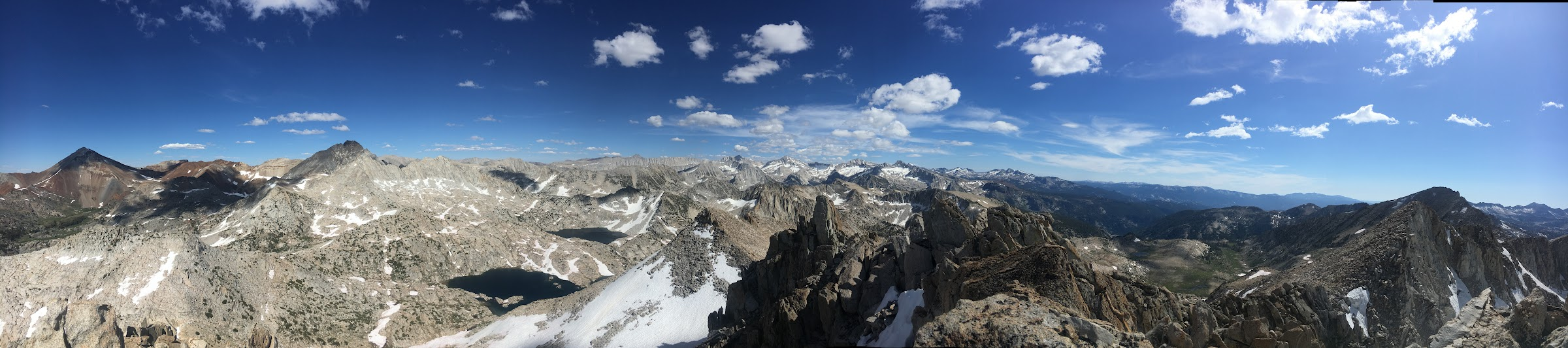 Summit view south from Mount Izaak Walton