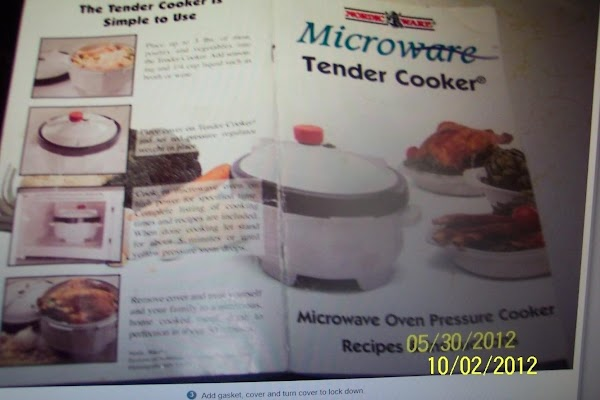 MICRO-WAVE TENDER COOKER  is made by:NORDIC-WARE  Like having meals in minutes  Please check out...