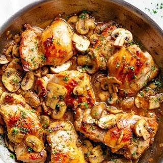 Garlic Mushroom Chicken Thighs Recipe