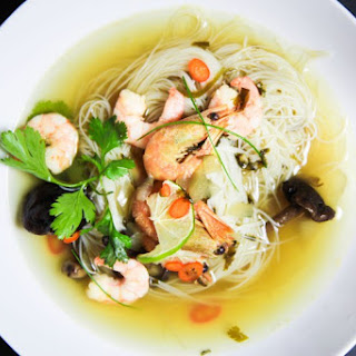 Asian Style Prawn Soup with Glass Noodles