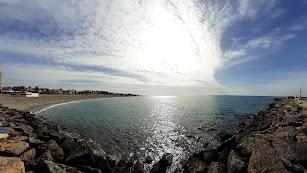 Espectacular mañana de otoño en la Bahía de Almería.