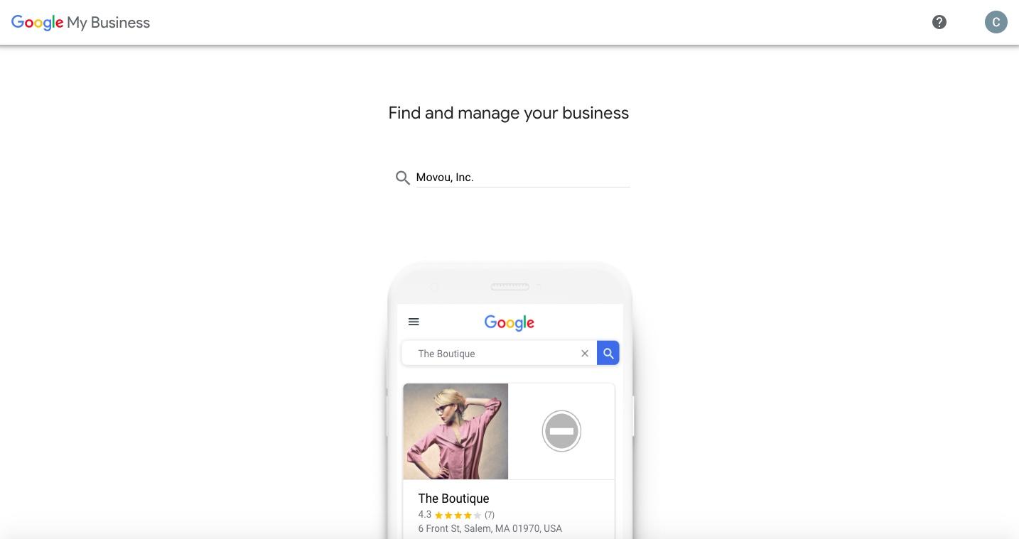 enter business name