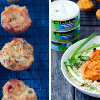 Spicy Tuna Hummus Cakes.