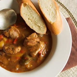 Hearty Pork & Vegetable Stew.