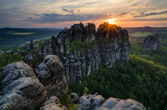 Photo: My vision of Schrammsteine. Great location for sunset and sunrise shooting in Saxon Switzerland.  #mountainmonday curated by +Michael Russell #landscapephotography curated by +Rolf Hicker #naturemonday curated by +Margaret Tompkins #plusphotoextract