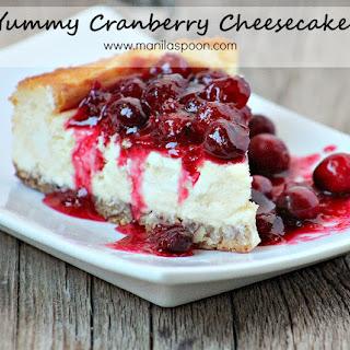 Yummy Cranberry Cheesecake