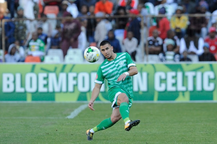 Lorenzo Gordinho of Celtics during the Absa Premiership match between Bloemfontein Celtic and Orlando Pirates at Free State Stadium on August 19, 2018 in Bloemfontein, South Africa.
