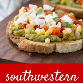 Southwestern Guacamole Toast