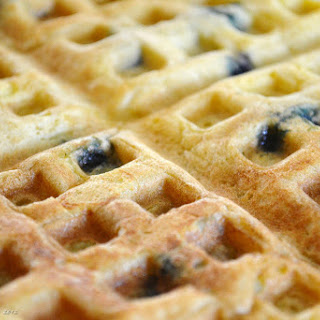 Homemade Blueberry Waffles for Two