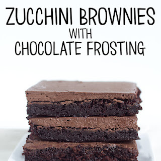 Zucchini Brownies with Chocolate Frosting